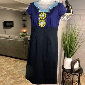 Boden Empire Waist Dress Size 4